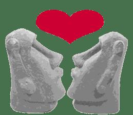 I love Moai. sticker #768723