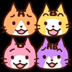 Blood type cat sticker