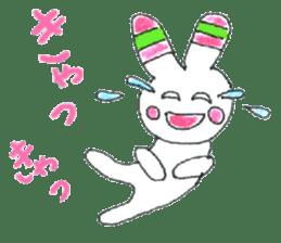 A rabbit is a full sticker #774871