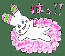 A rabbit is a full sticker #774881
