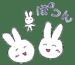 A rabbit is a full sticker #774882
