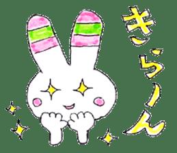 A rabbit is a full sticker #774889