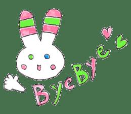 A rabbit is a full sticker #774890