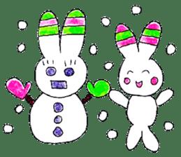 A rabbit is a full sticker #774895