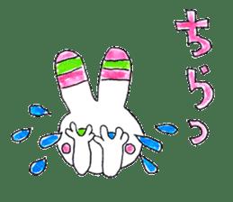 A rabbit is a full sticker #774897