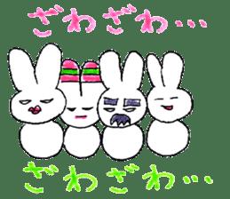 A rabbit is a full sticker #774905