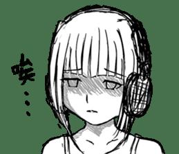 Headphone Girl sticker #778795
