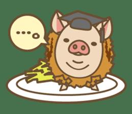 Pig farm sticker #780351