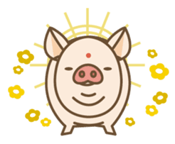 Pig farm sticker #780369