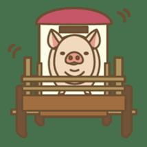 Pig farm sticker #780381