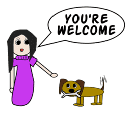 English with Lina: (2) Greetings sticker #783700