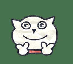 paper dog sticker #784511