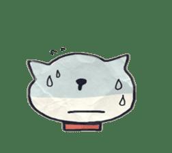 paper dog sticker #784521