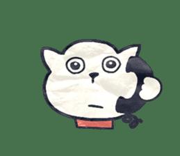 paper dog sticker #784530