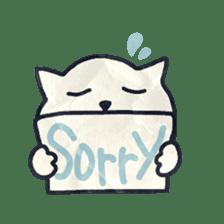 paper dog sticker #784541