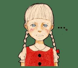 braid girl. sticker #785072