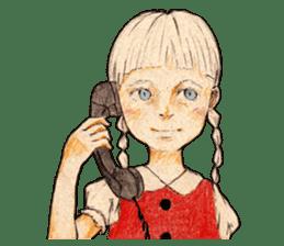 braid girl. sticker #785073