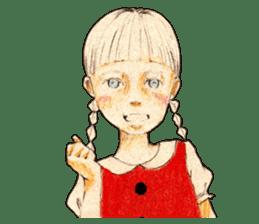 braid girl. sticker #785074