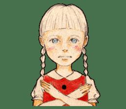 braid girl. sticker #785075