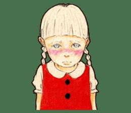 braid girl. sticker #785077