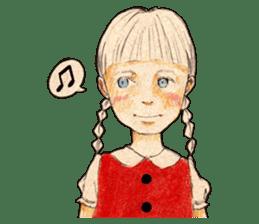 braid girl. sticker #785078