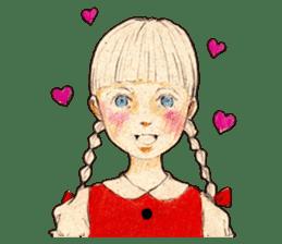braid girl. sticker #785079