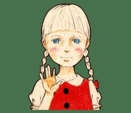 braid girl. sticker #785081