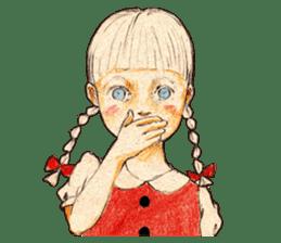 braid girl. sticker #785082
