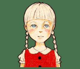braid girl. sticker #785083