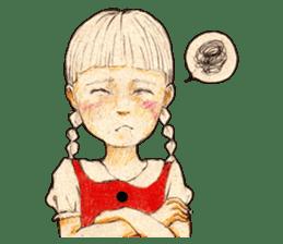 braid girl. sticker #785087