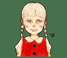 braid girl. sticker #785088