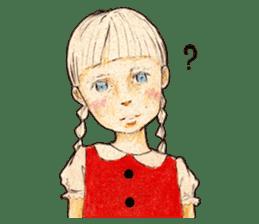 braid girl. sticker #785091