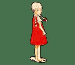 braid girl. sticker #785098