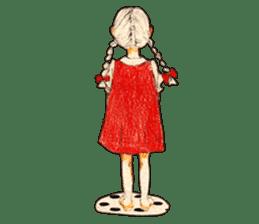 braid girl. sticker #785101