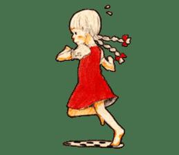 braid girl. sticker #785103