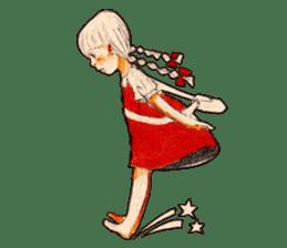 braid girl. sticker #785104