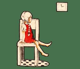 braid girl. sticker #785105