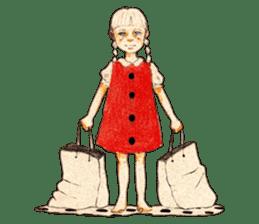 braid girl. sticker #785109
