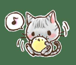 Cat Slider Stamp sticker #786983