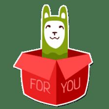 RGB Llamas sticker #787896