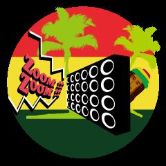 Reggae music rastaman stamp
