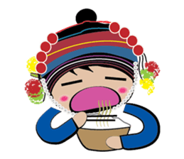 Akha-boy Akha-girl sticker #791400