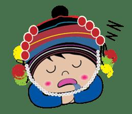 Akha-boy Akha-girl sticker #791401