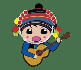 Akha-boy Akha-girl sticker #791402