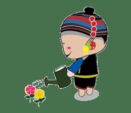 Akha-boy Akha-girl sticker #791404