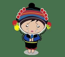 Akha-boy Akha-girl sticker #791406