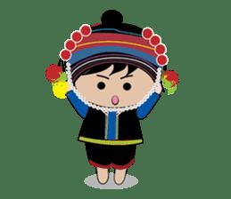 Akha-boy Akha-girl sticker #791407