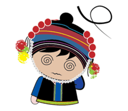 Akha-boy Akha-girl sticker #791408