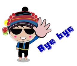 Akha-boy Akha-girl sticker #791409