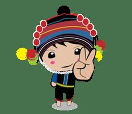Akha-boy Akha-girl sticker #791412